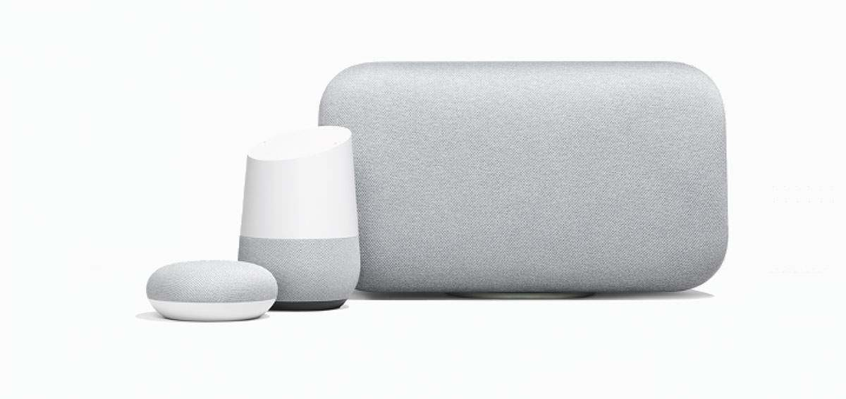 Google home, Google Max en Google Mini smart speakers