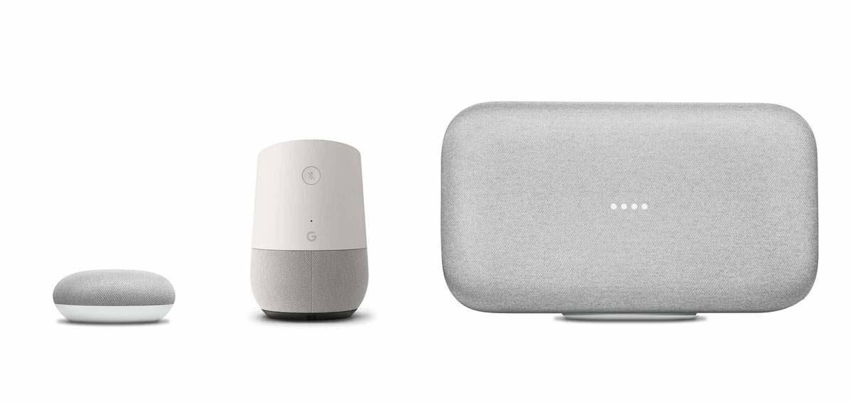 vergelijking google home, mini en maxi